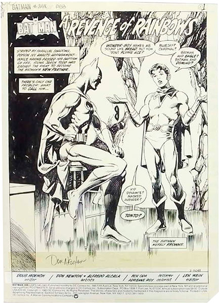 don-newton-batman-original-comic-art
