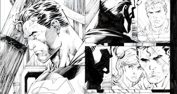 jim-lee-superman-original-comic-art