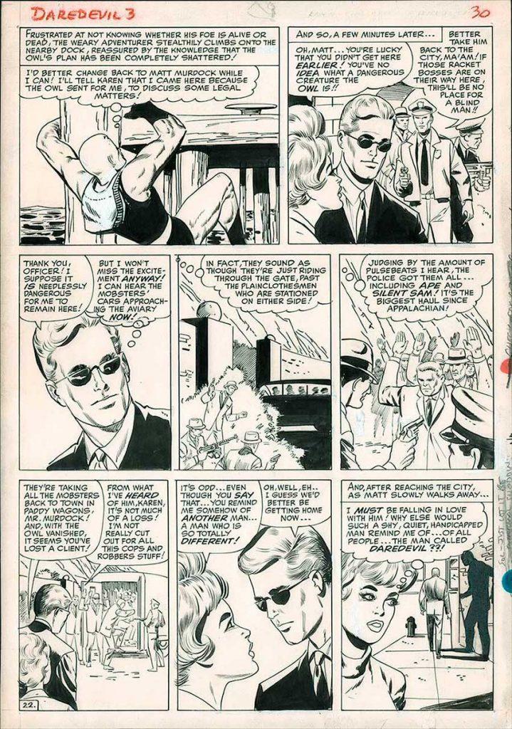 daredevil-original-comic-art