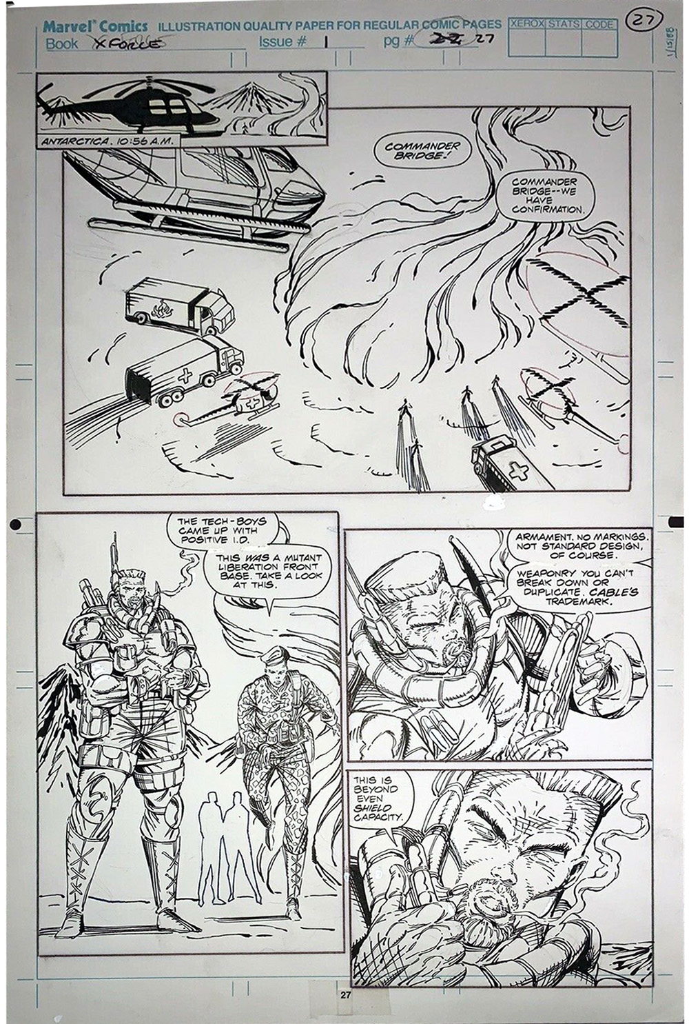 rob-liefeld-x-force-original-art-for-sale