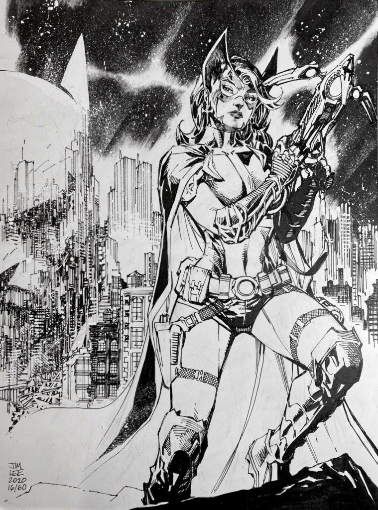 huntress-original-art-jim-lee