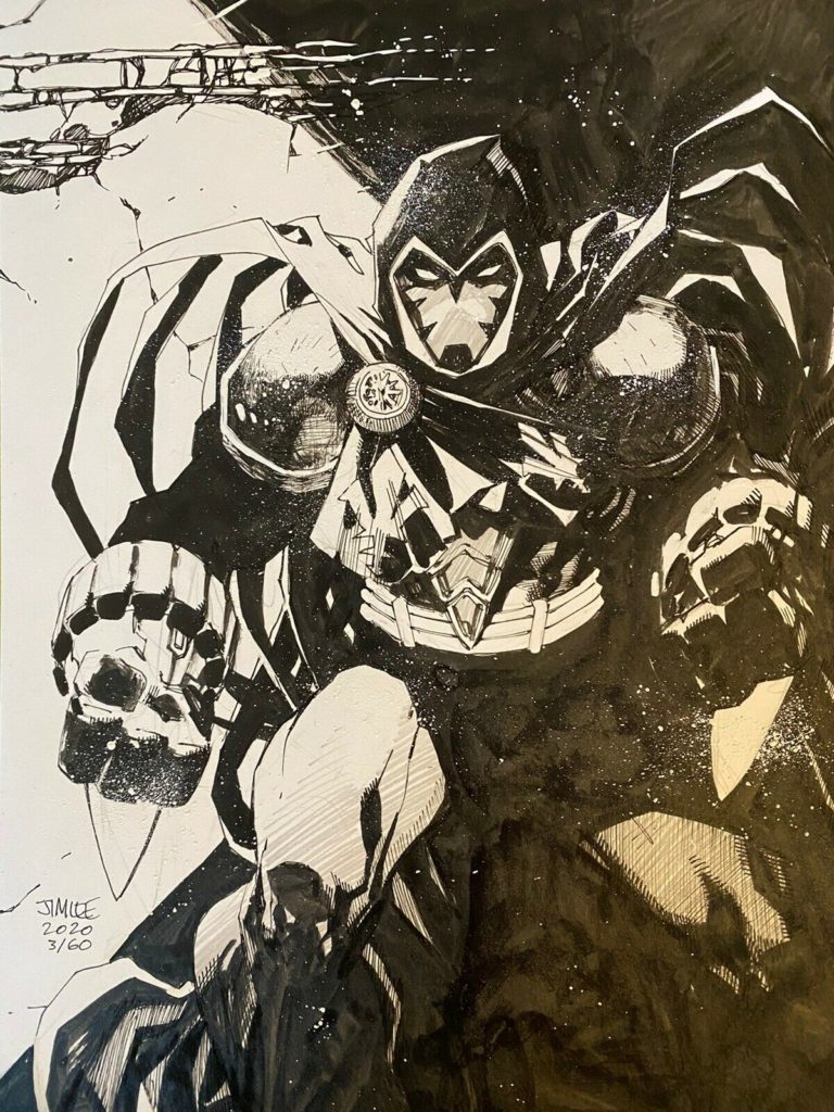 jim-lee-azrael-original-comic-art