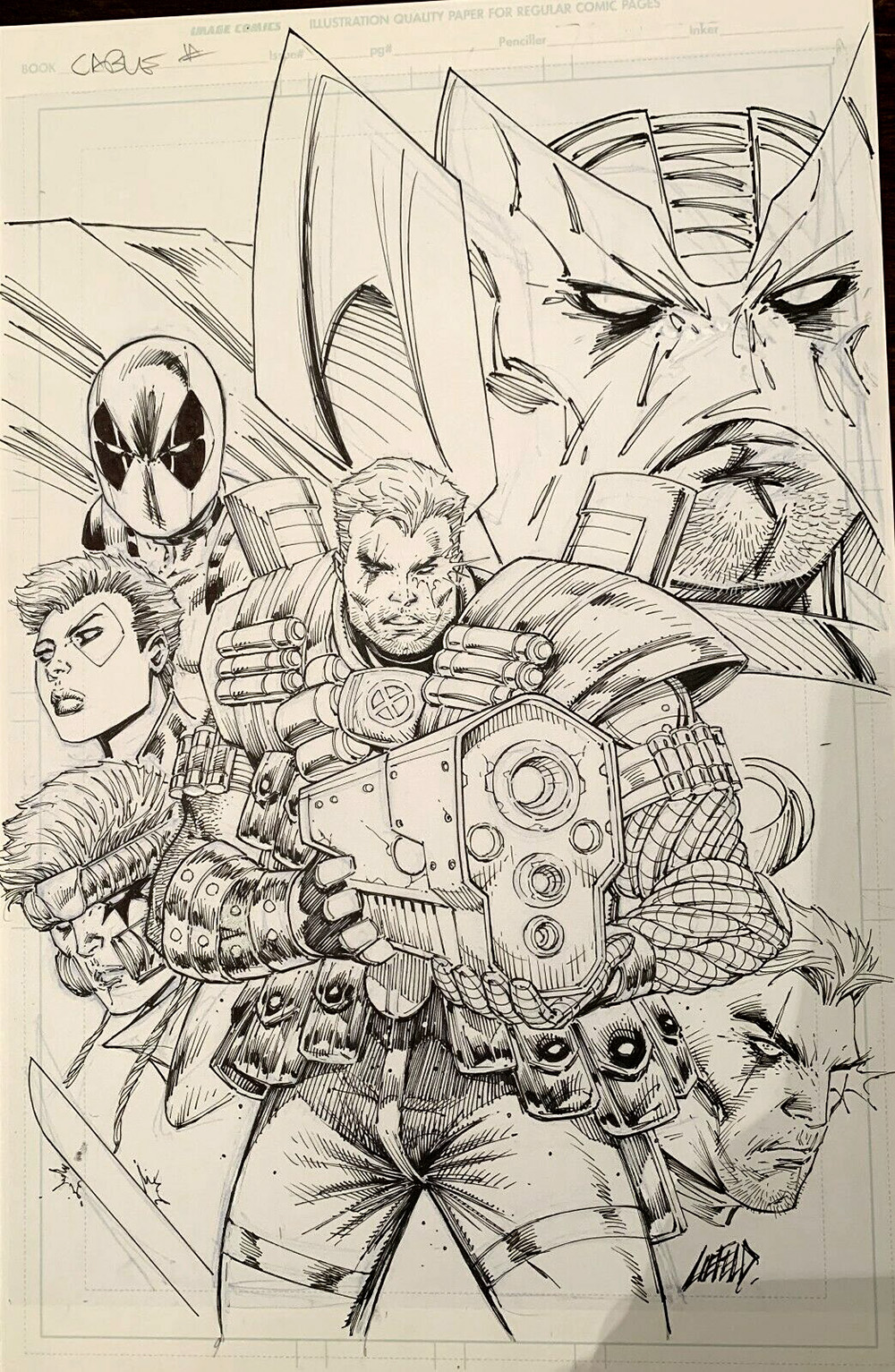rob-liefeld-cable-original-cover-art