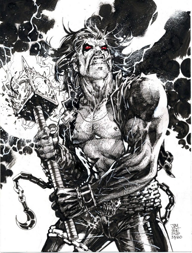 jim-lee-lobo-original-comic-art