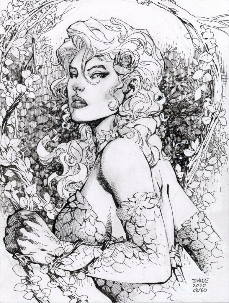 jim-lee-poison-ivy-original-art