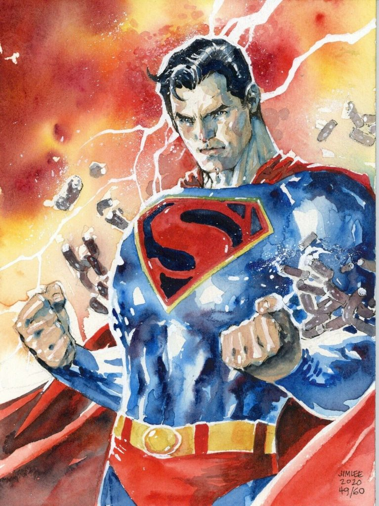 Jim-Lee-superman-original-art